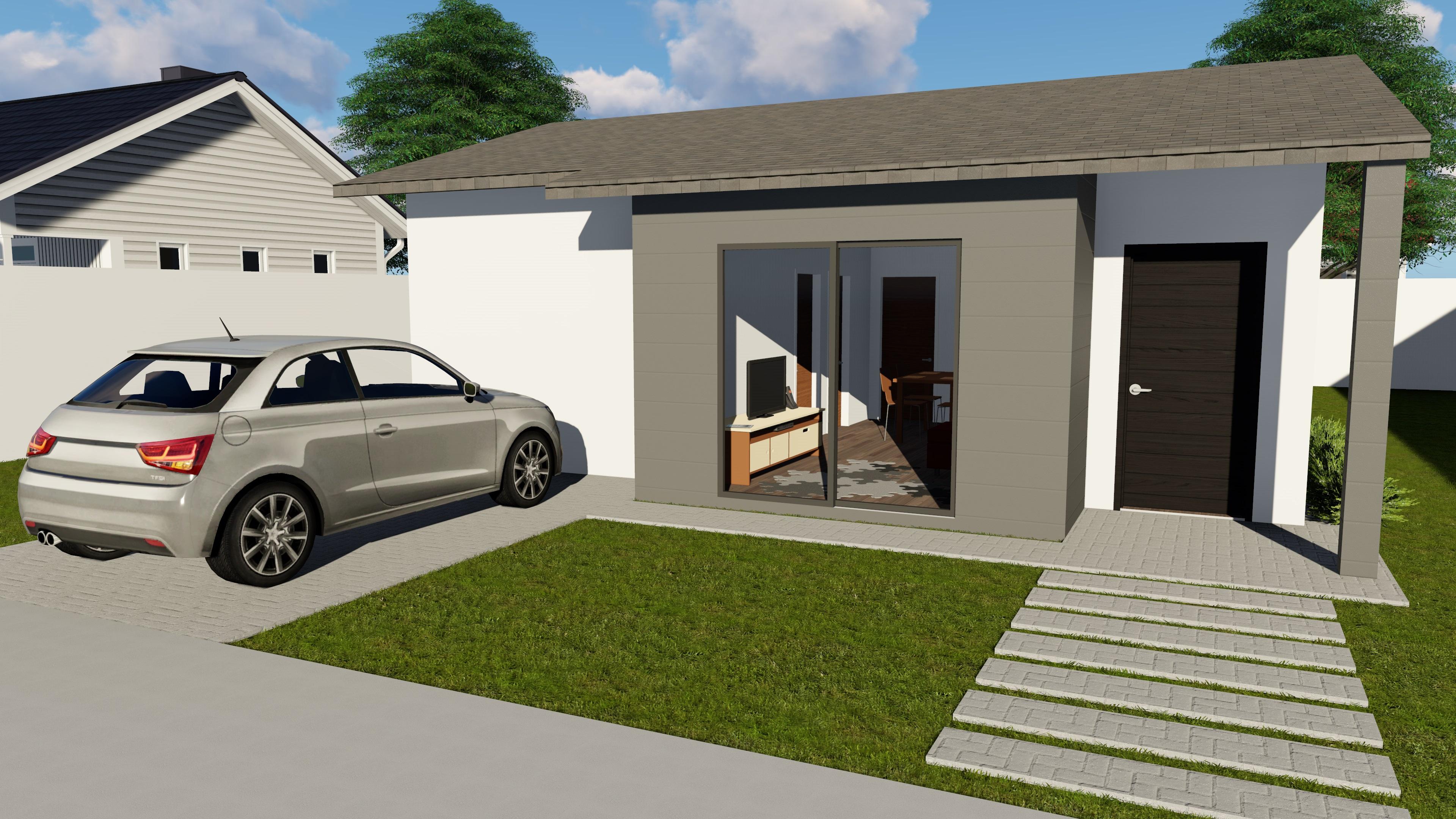 Casas steel frame modelos prontos sulm dulos sistemas for Modelos de casa estilo minimalista