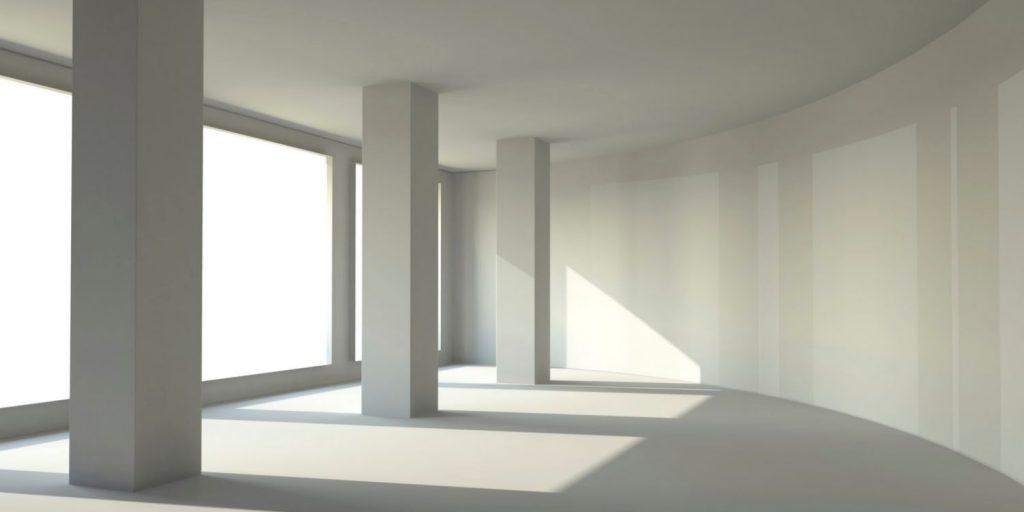 parede drywall curvas