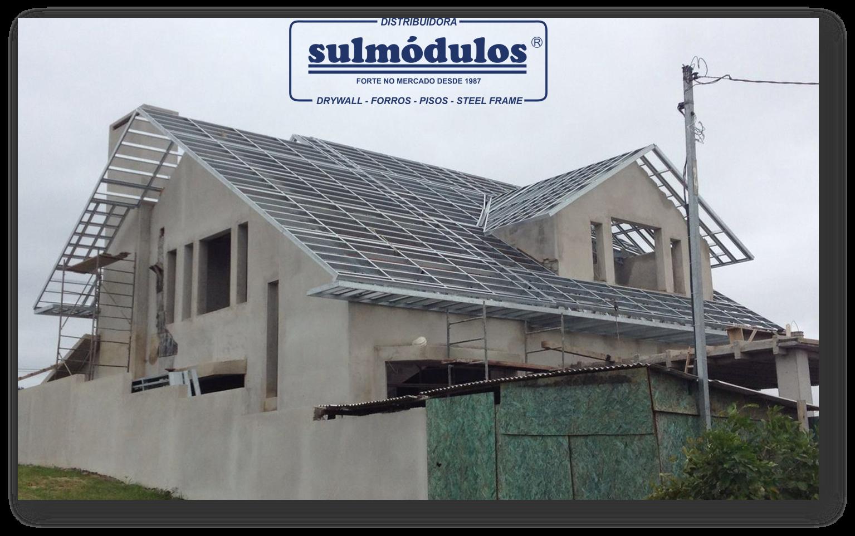 estrutura metalica para telhados sulmodulos
