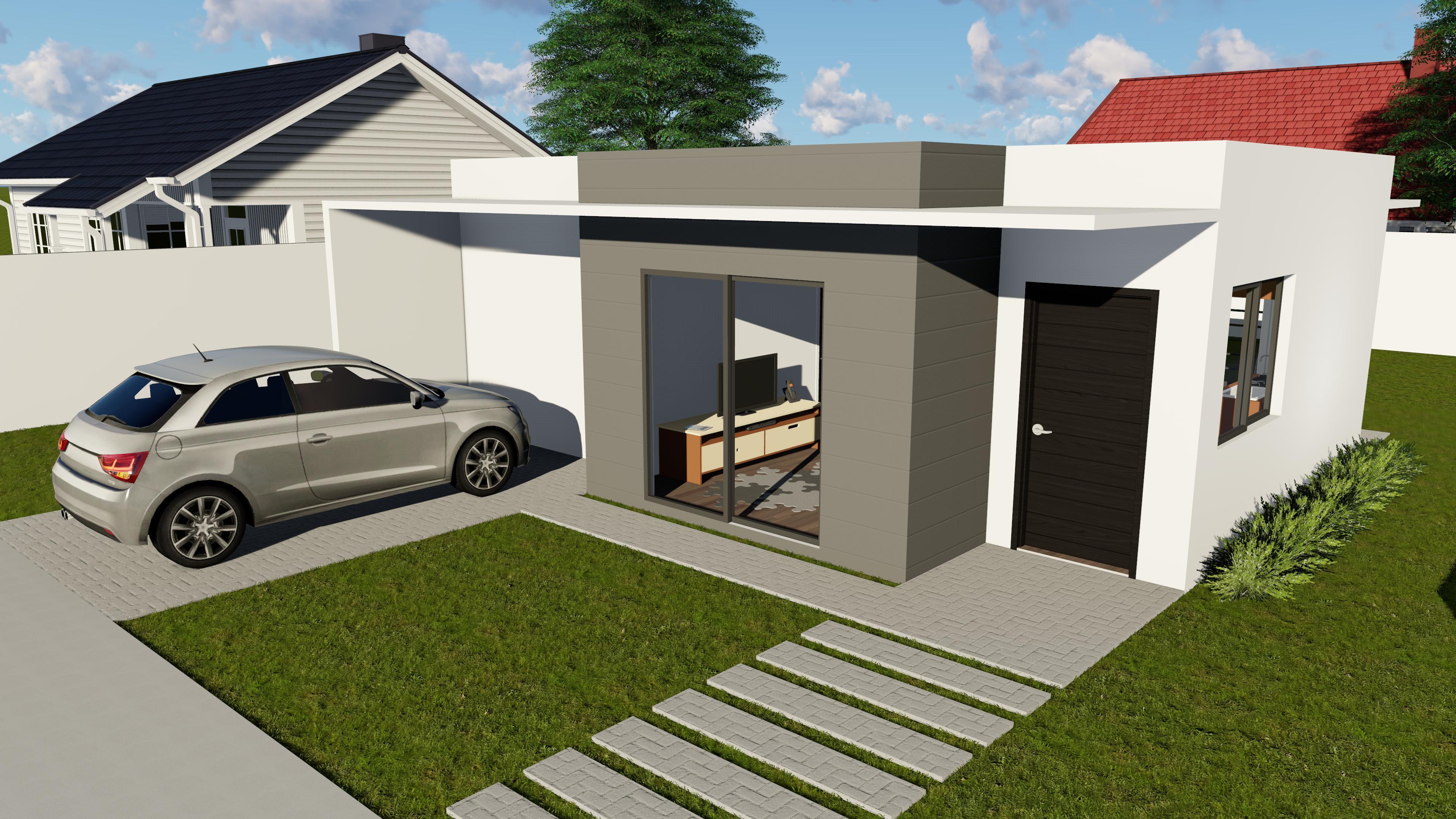 Casas steel frame modelos prontos sulm dulos sistemas for Modelo de fachadas de viviendas