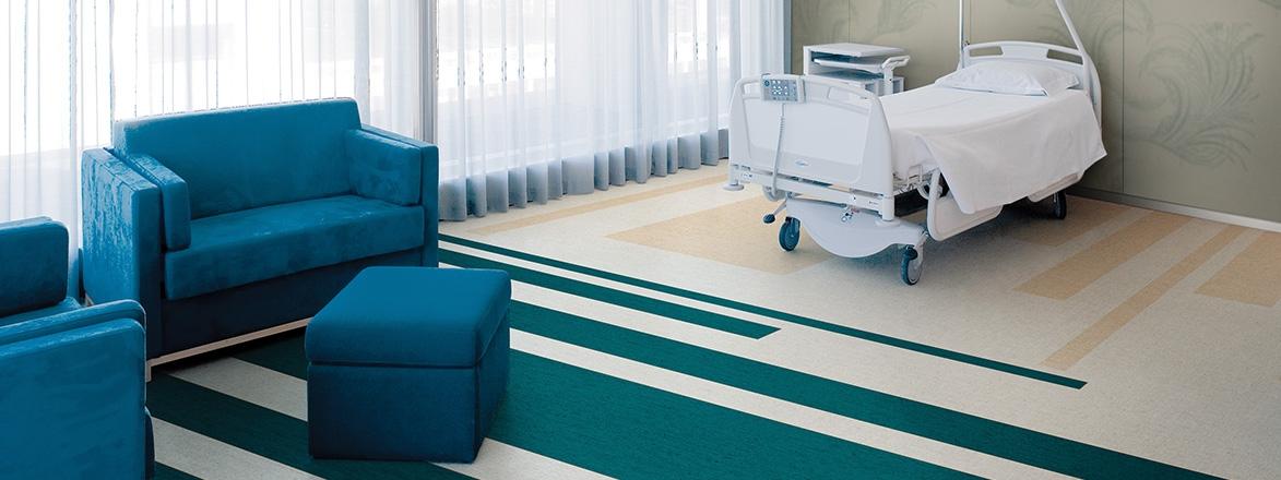 piso vinilico hospitalar optima