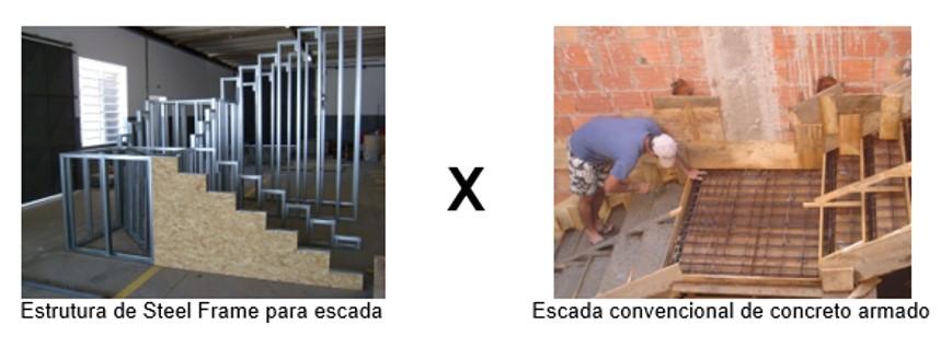 escada steel frame