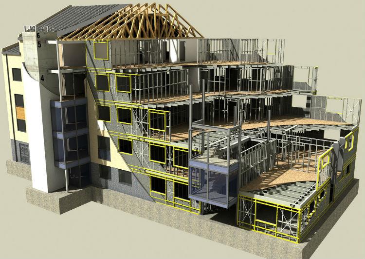 steel frame projeto