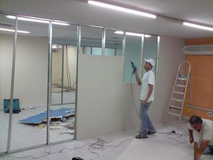 espessura parede drywall