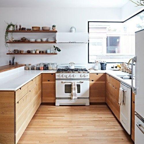 cozinha com piso vinílico
