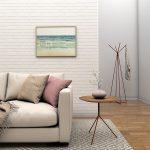 projeto de sala de estar com revestimento de parede