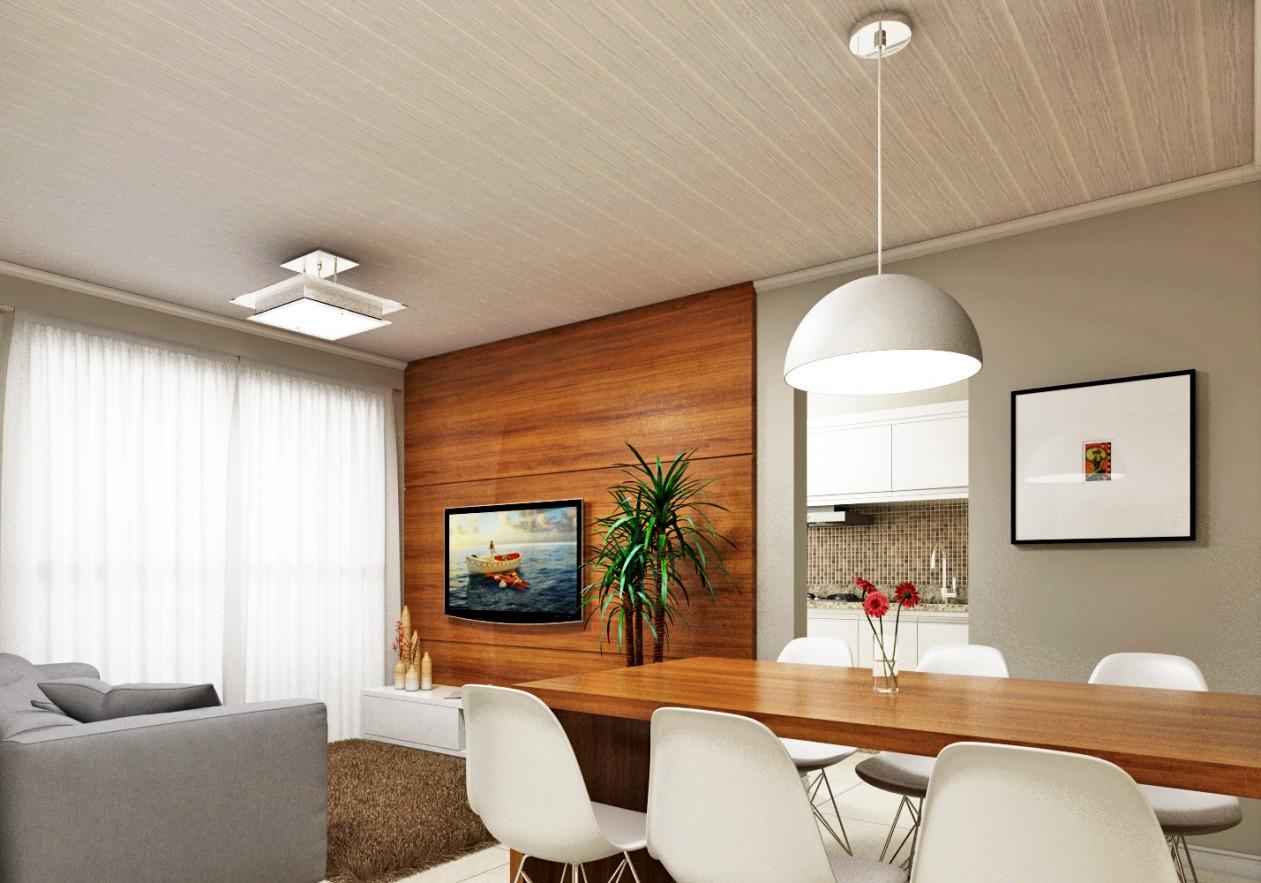 escritório decorado com PVC